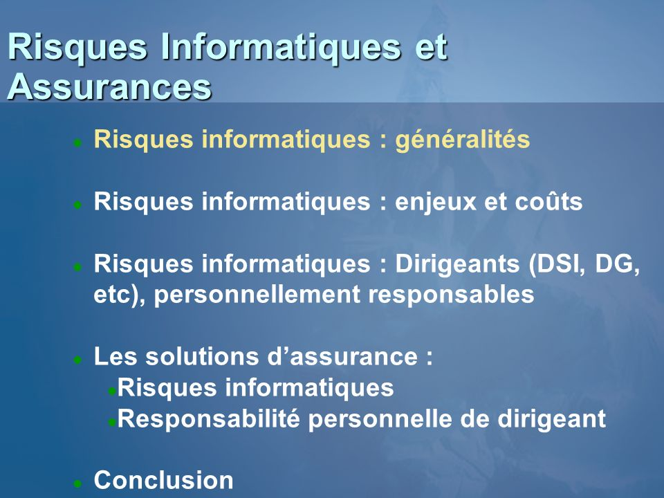 Risques Informatiques et Assurances