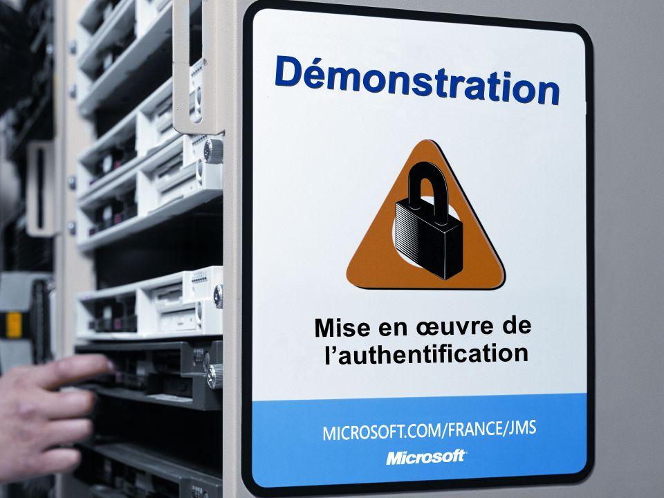 Démonstration Mise en œuvre de l'authentification 3/26/2017 3:56 PM