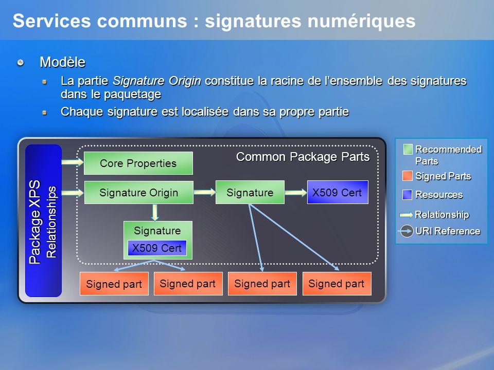 Services communs : signatures numériques
