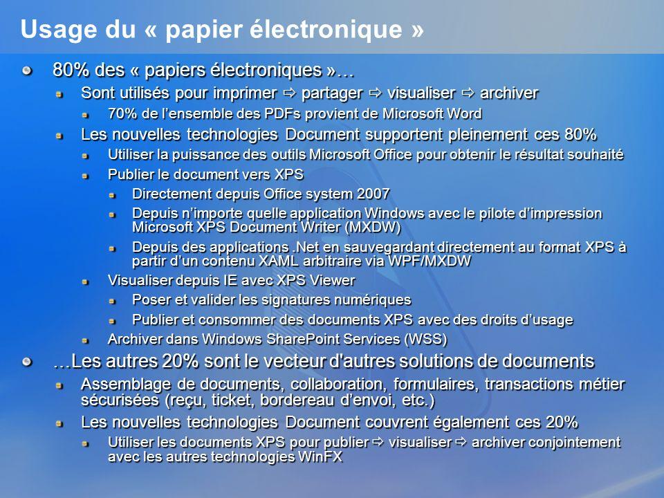 Usage du « papier électronique »