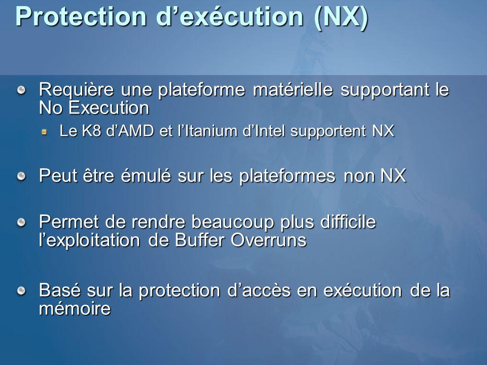 Protection d'exécution (NX)