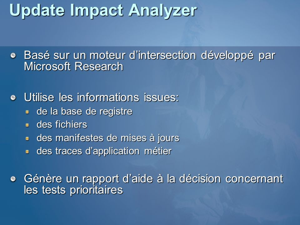 Update Impact Analyzer