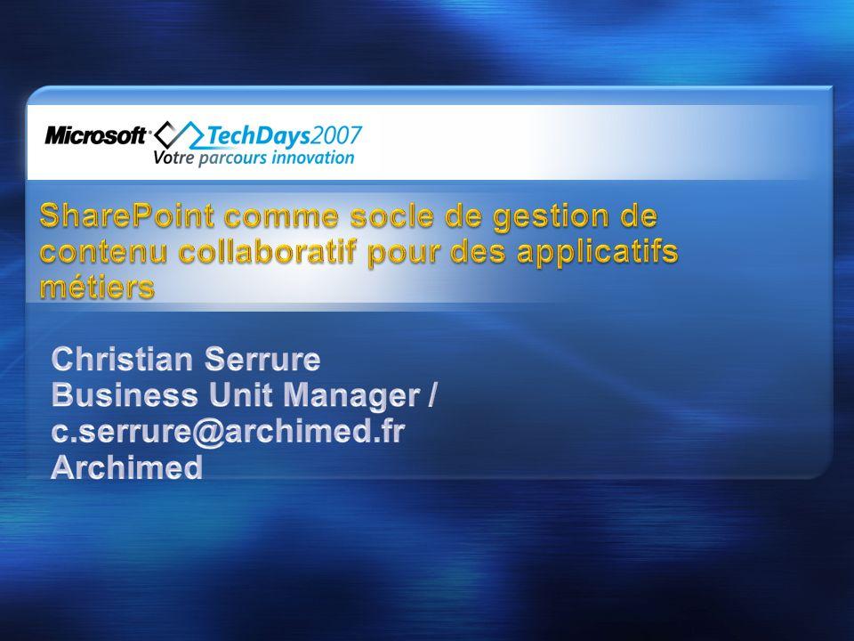 Business Unit Manager / c.serrure@archimed.fr Archimed