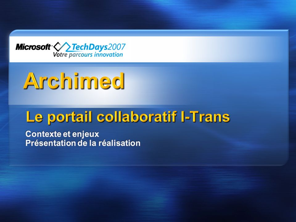 Le portail collaboratif I-Trans