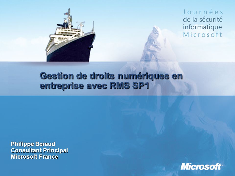 Gestion de droits numériques en entreprise avec RMS SP1