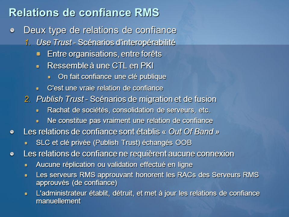 Relations de confiance RMS