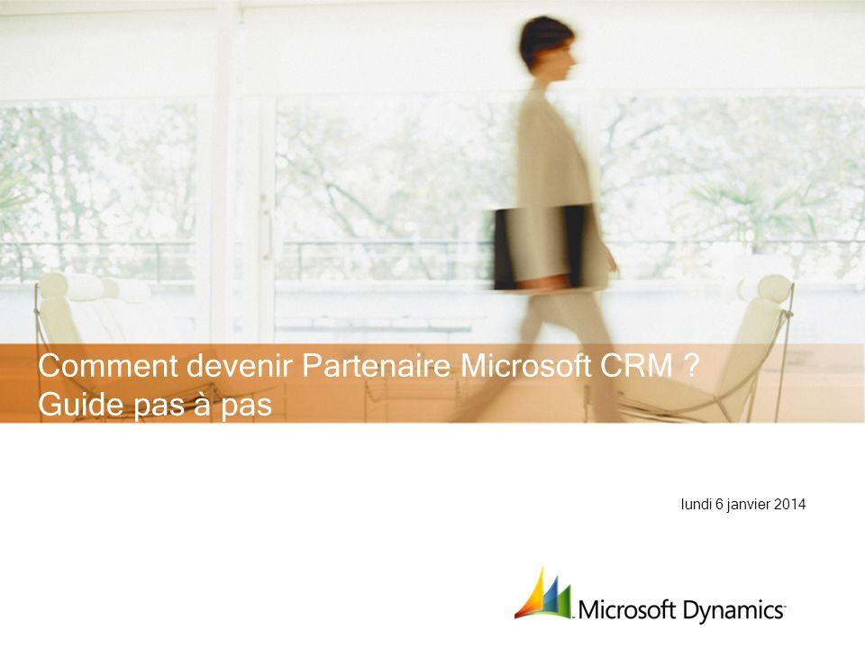 Comment devenir Partenaire Microsoft CRM Guide pas à pas