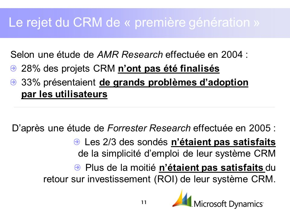 Le rejet du CRM de « première génération »