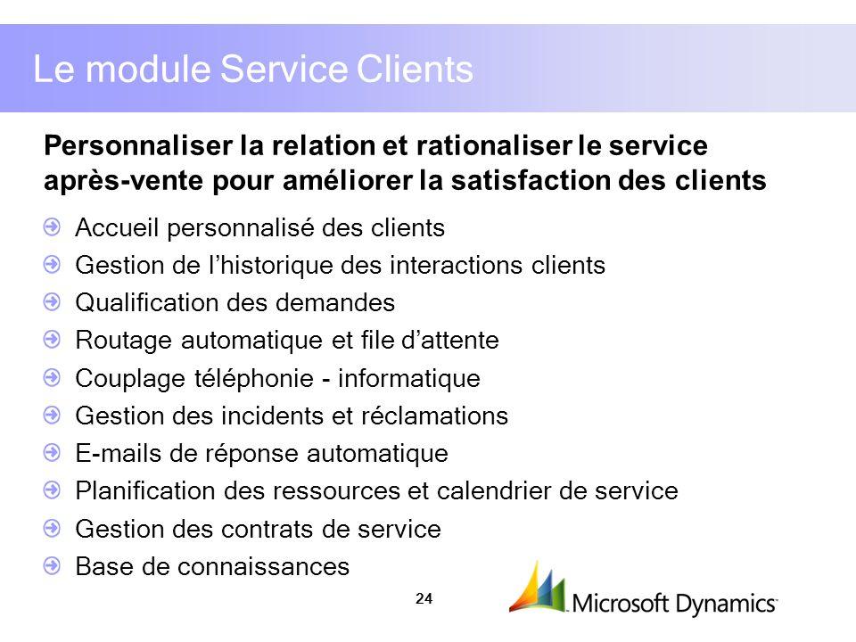 Le module Service Clients