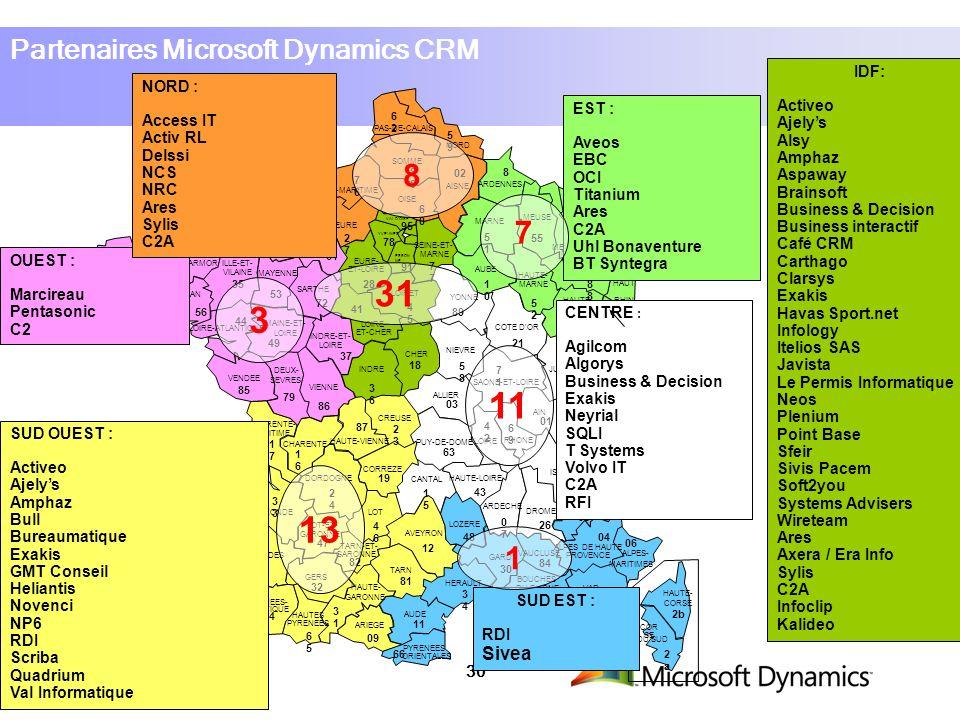 31 3 11 13 8 7 1 Partenaires Microsoft Dynamics CRM IDF: Activeo