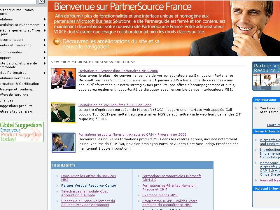 Information du Réseau (2) Partner Source