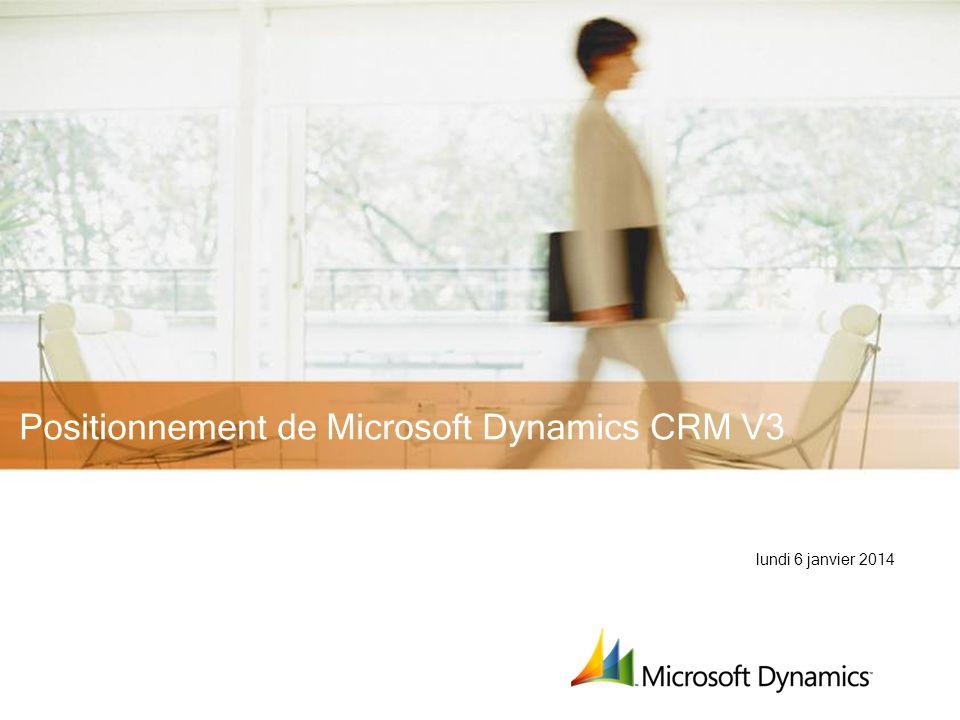 Positionnement de Microsoft Dynamics CRM V3
