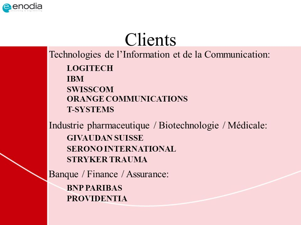 Clients Technologies de l'Information et de la Communication: