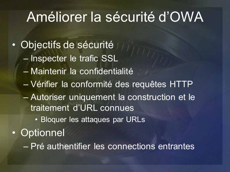 Améliorer la sécurité d'OWA
