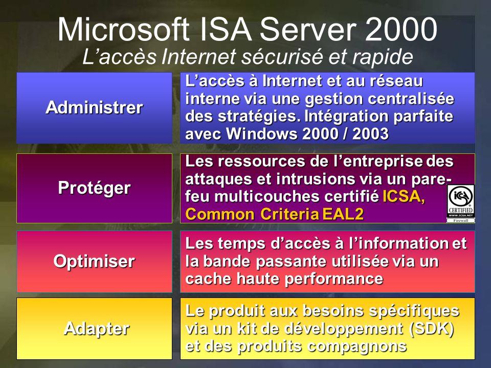 Microsoft ISA Server 2000 L'accès Internet sécurisé et rapide
