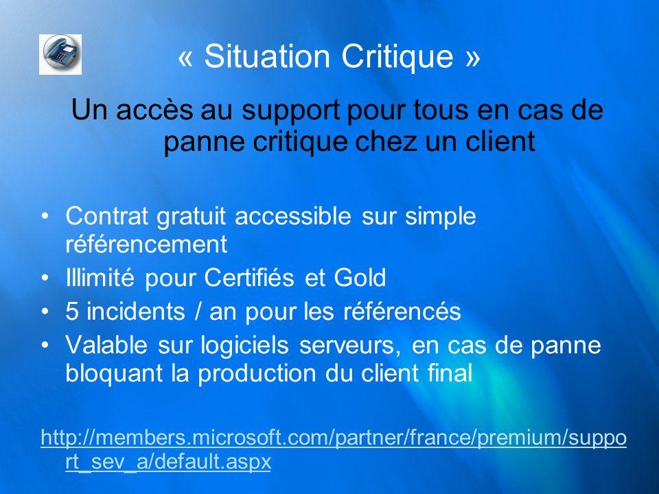 Un accès au support pour tous en cas de panne critique chez un client