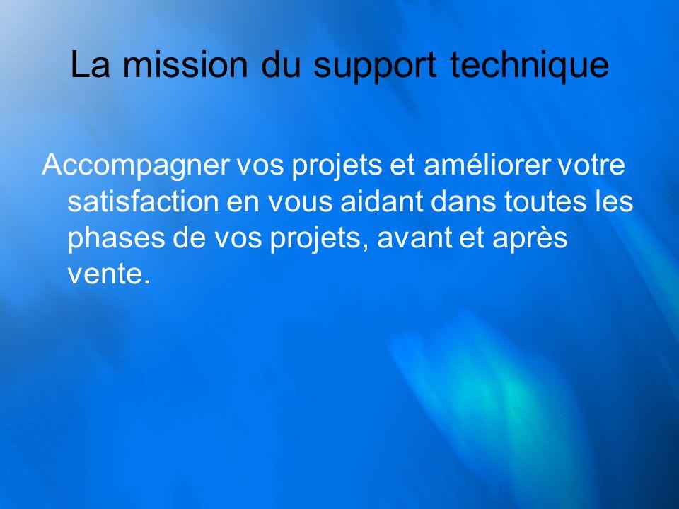 La mission du support technique
