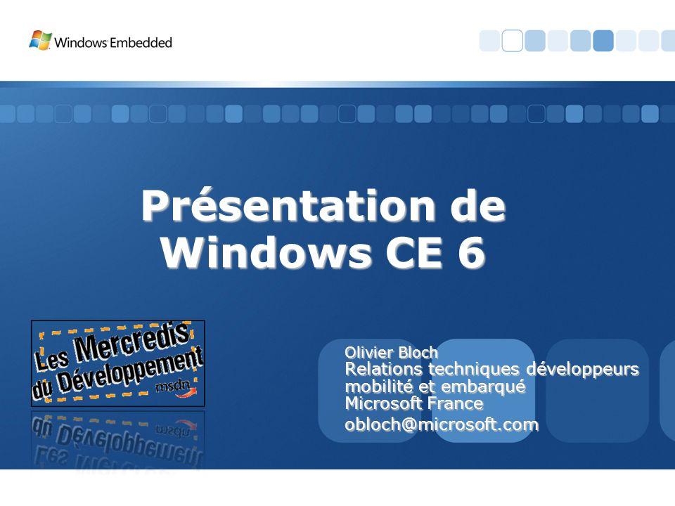 Présentation de Windows CE 6