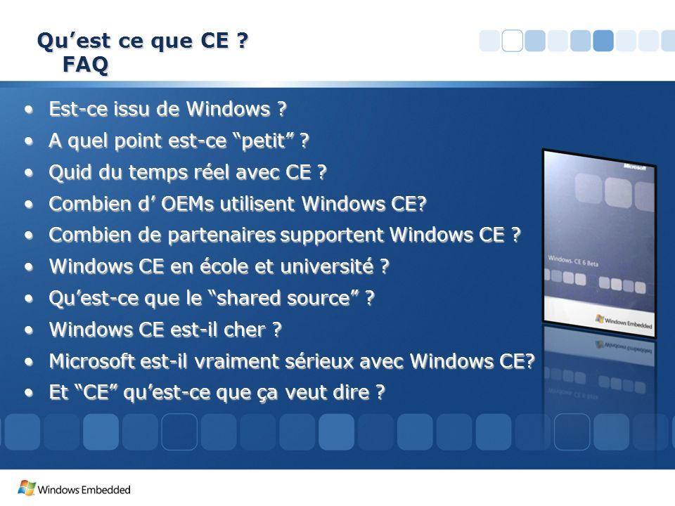 Qu'est ce que CE FAQ Est-ce issu de Windows