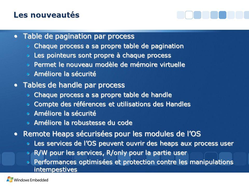 Les nouveautés Table de pagination par process