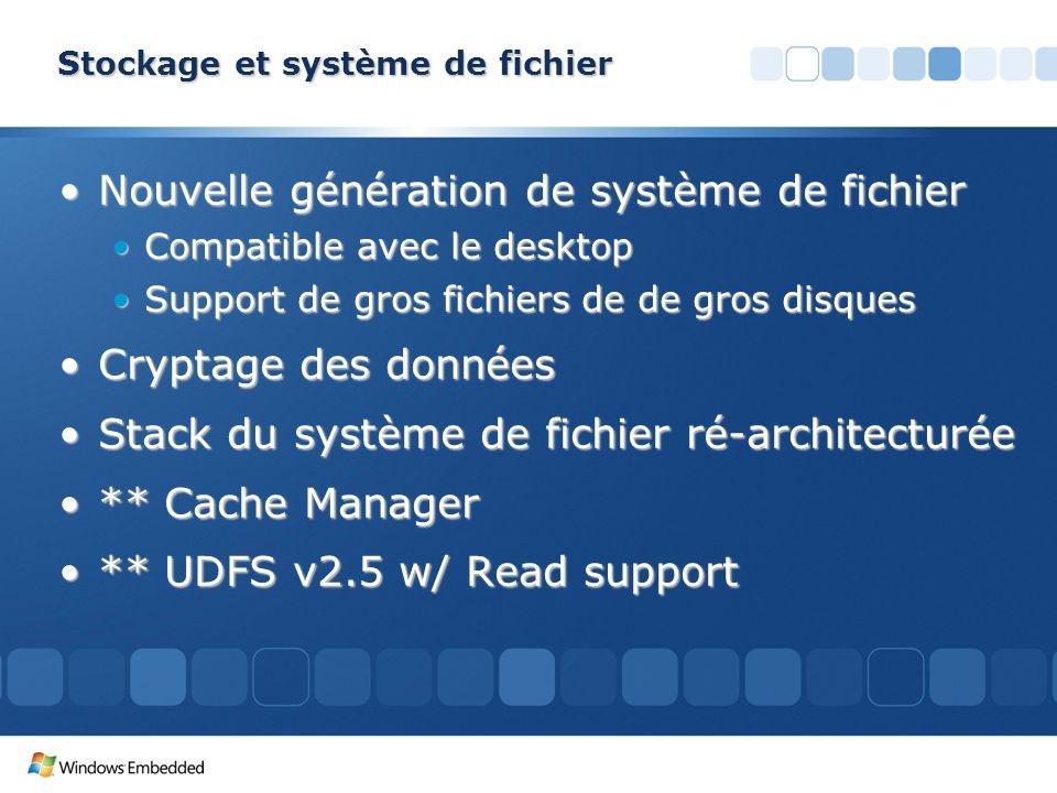 Stockage et système de fichier