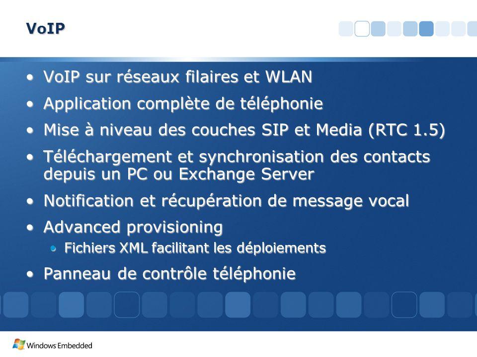 VoIP sur réseaux filaires et WLAN Application complète de téléphonie