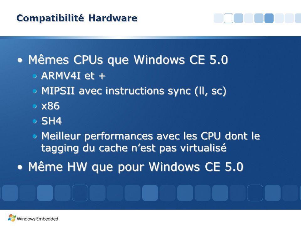 Compatibilité Hardware