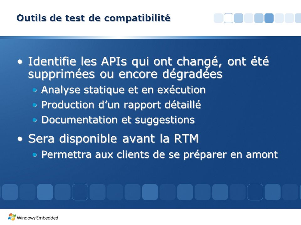 Outils de test de compatibilité