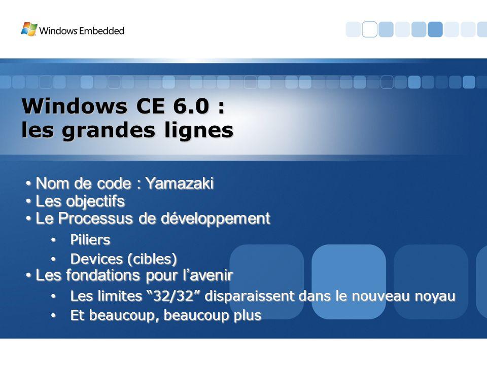 Windows CE 6.0 : les grandes lignes