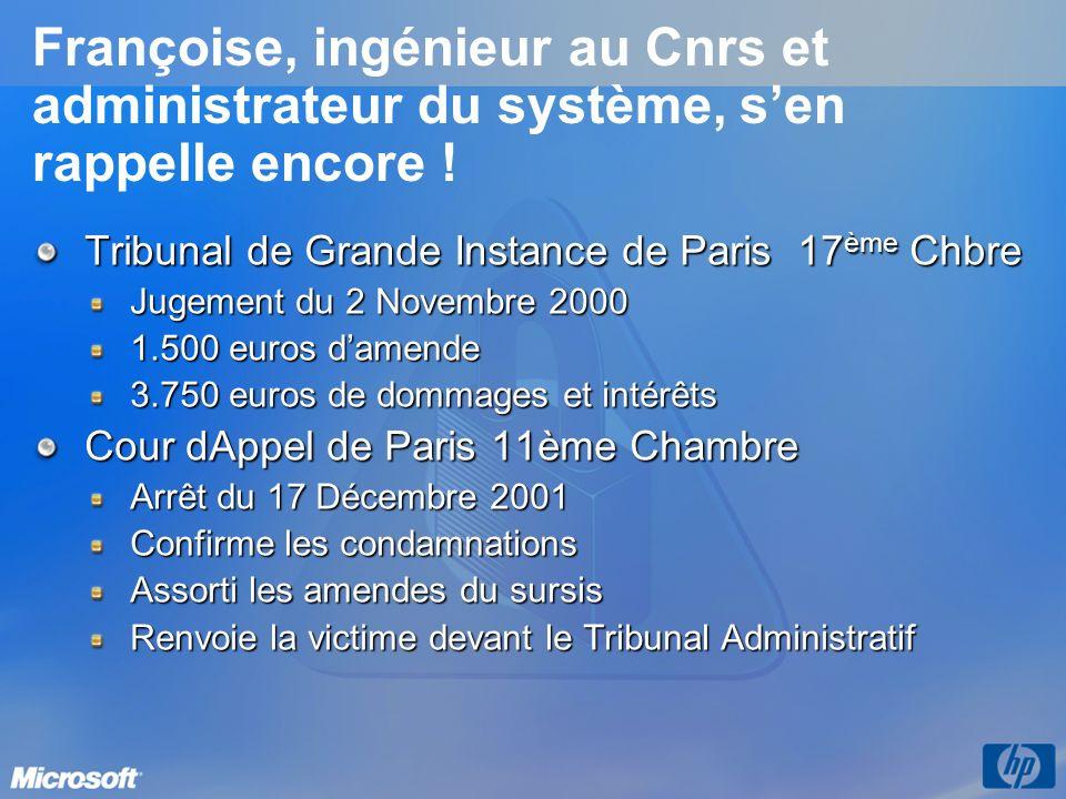 3/26/2017 3:56 PM Françoise, ingénieur au Cnrs et administrateur du système, s'en rappelle encore !