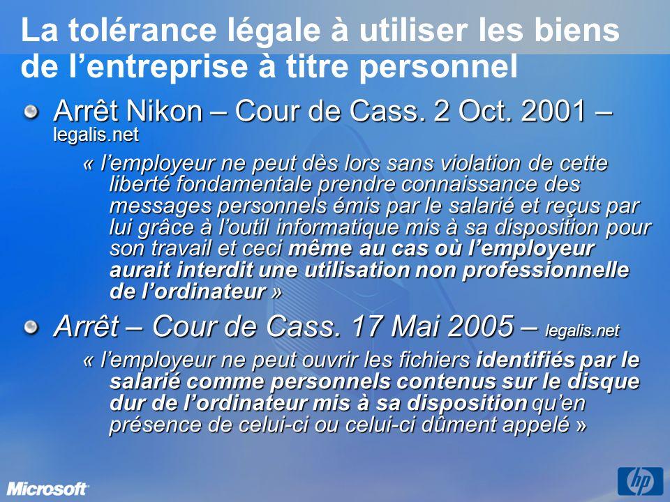La tolérance légale à utiliser les biens de l'entreprise à titre personnel