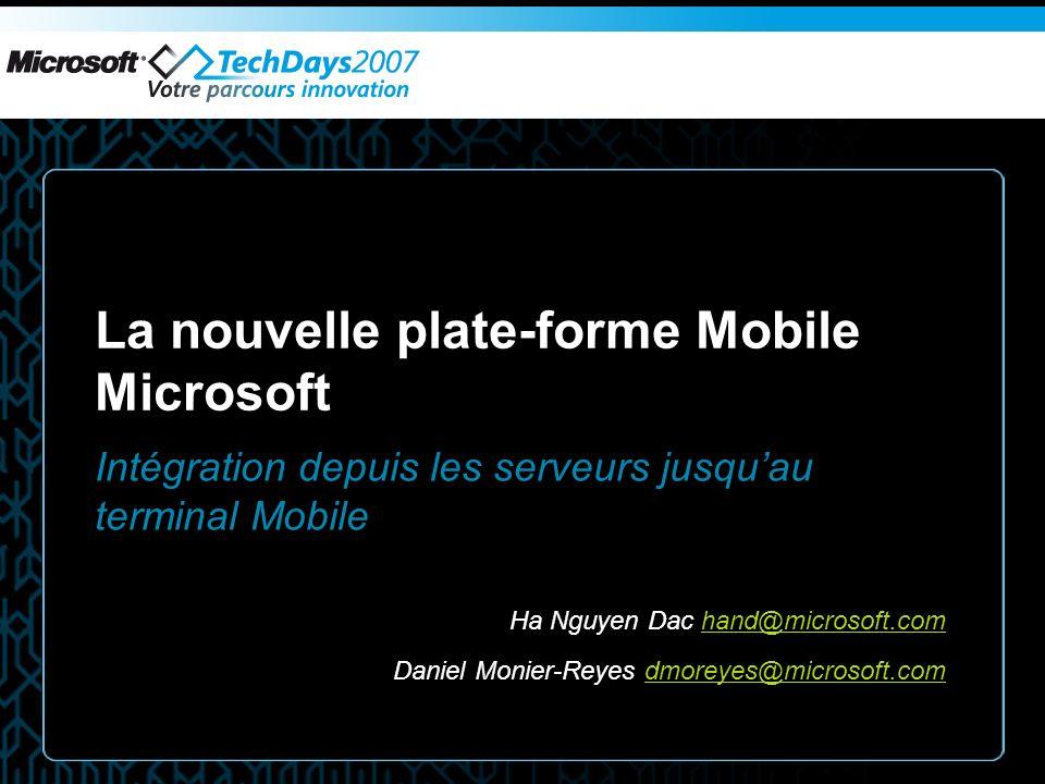 La nouvelle plate-forme Mobile Microsoft