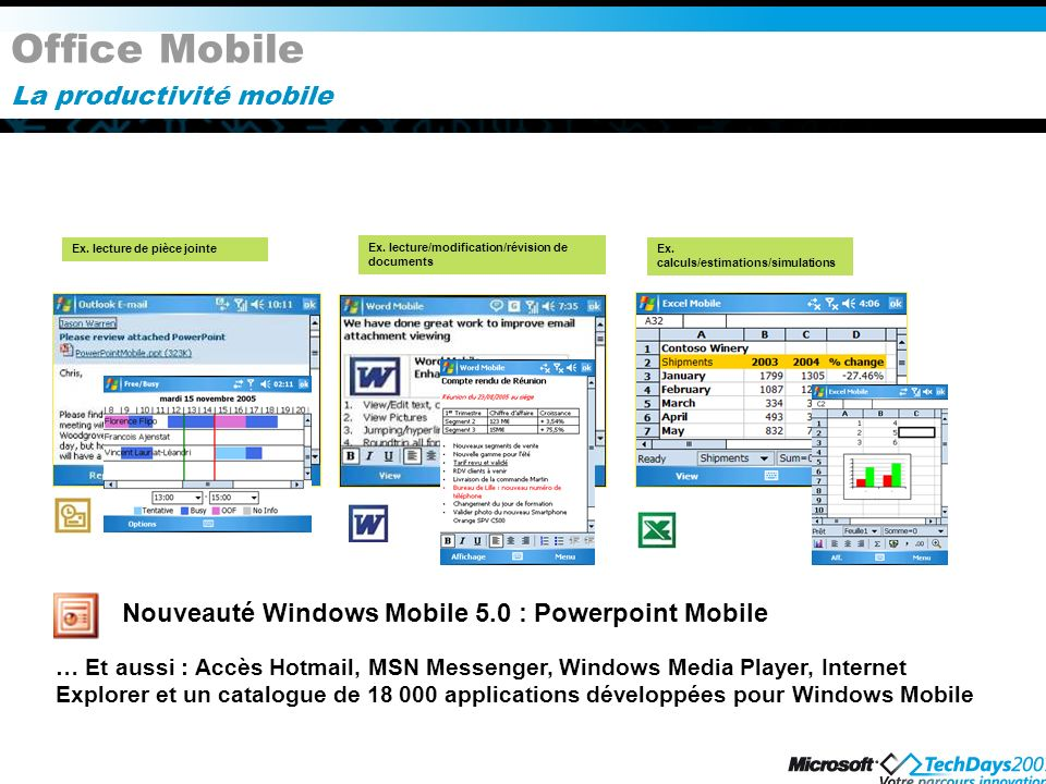 Office Mobile La productivité mobile