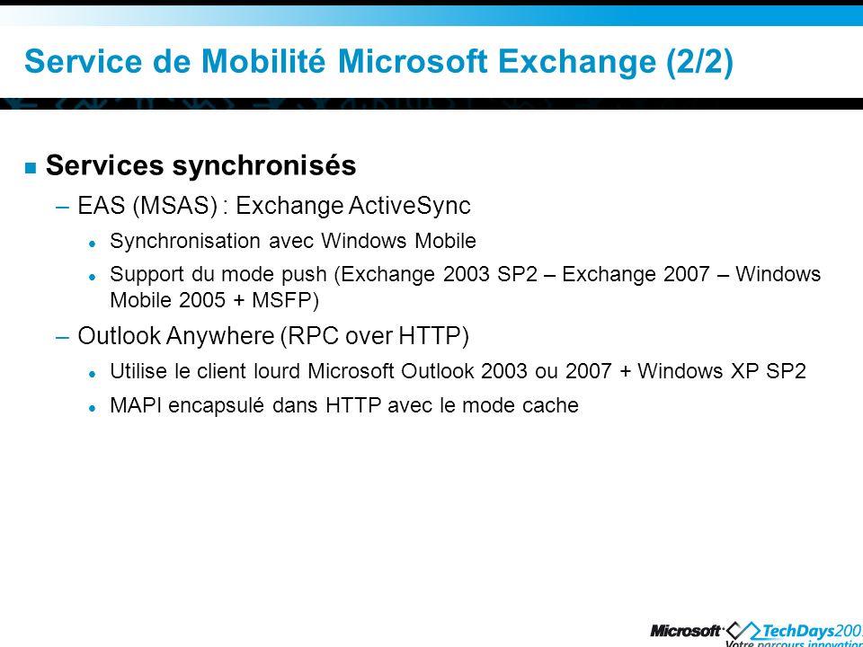 Service de Mobilité Microsoft Exchange (2/2)