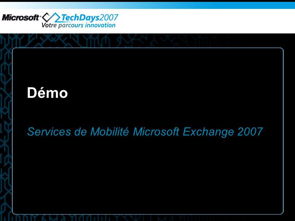 Services de Mobilité Microsoft Exchange 2007