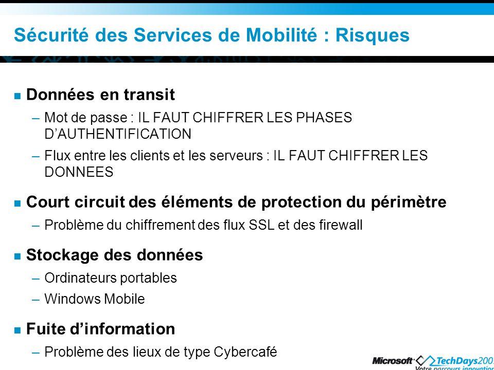 Sécurité des Services de Mobilité : Risques