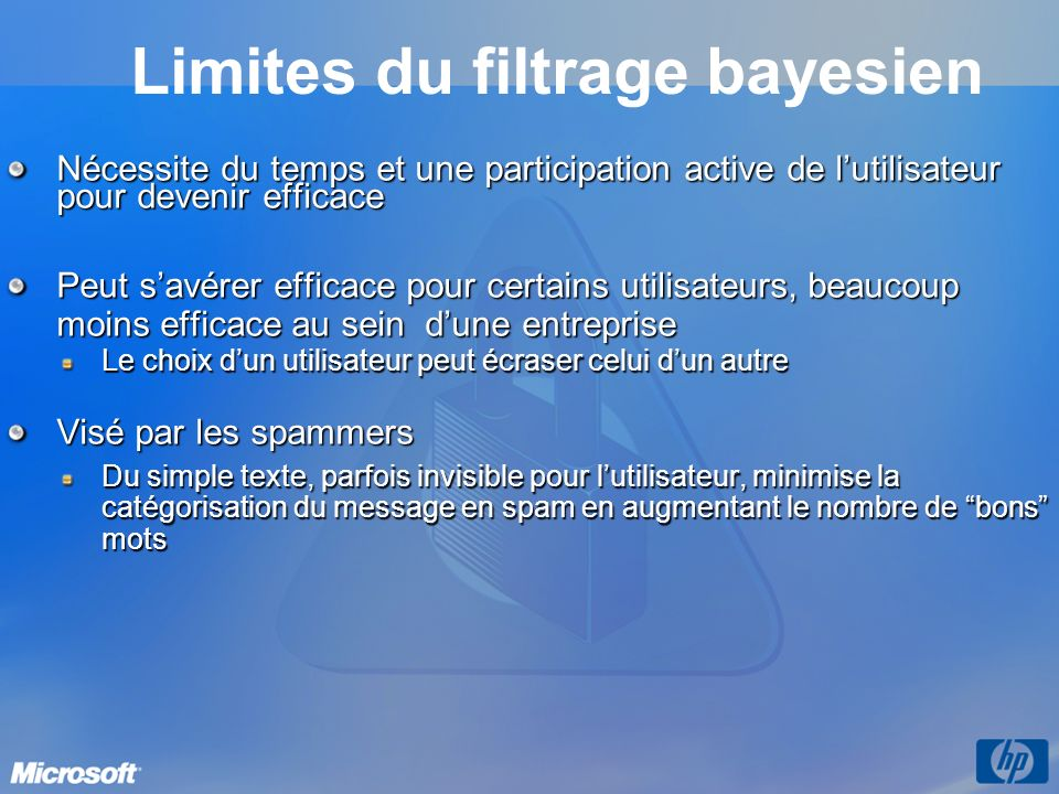 Limites du filtrage bayesien