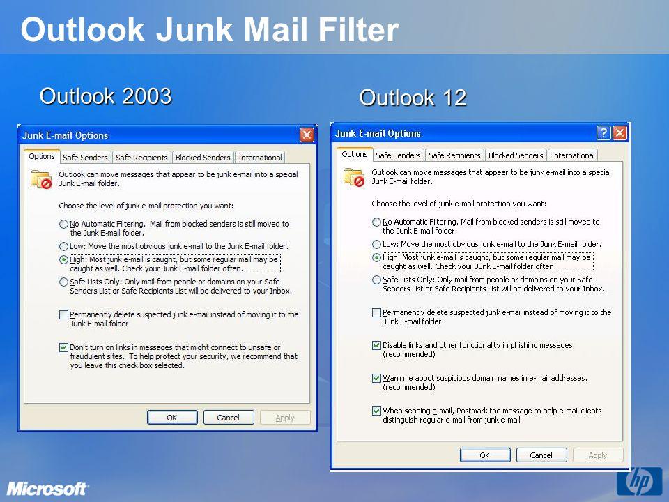 Outlook Junk Mail Filter