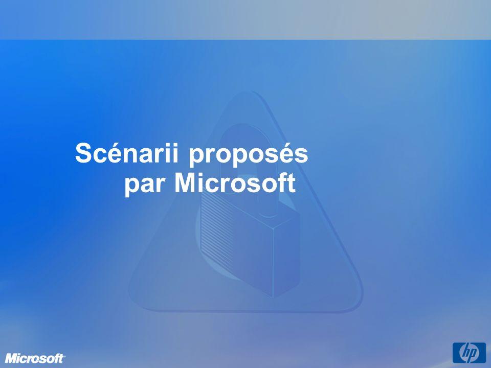 Scénarii proposés par Microsoft