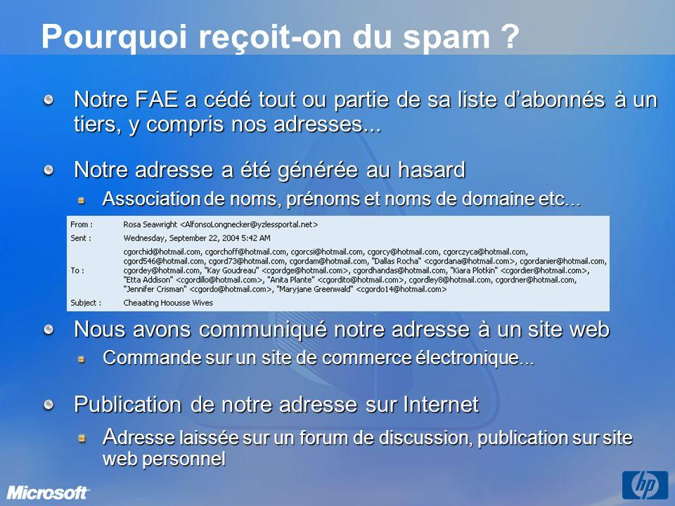 Pourquoi reçoit-on du spam