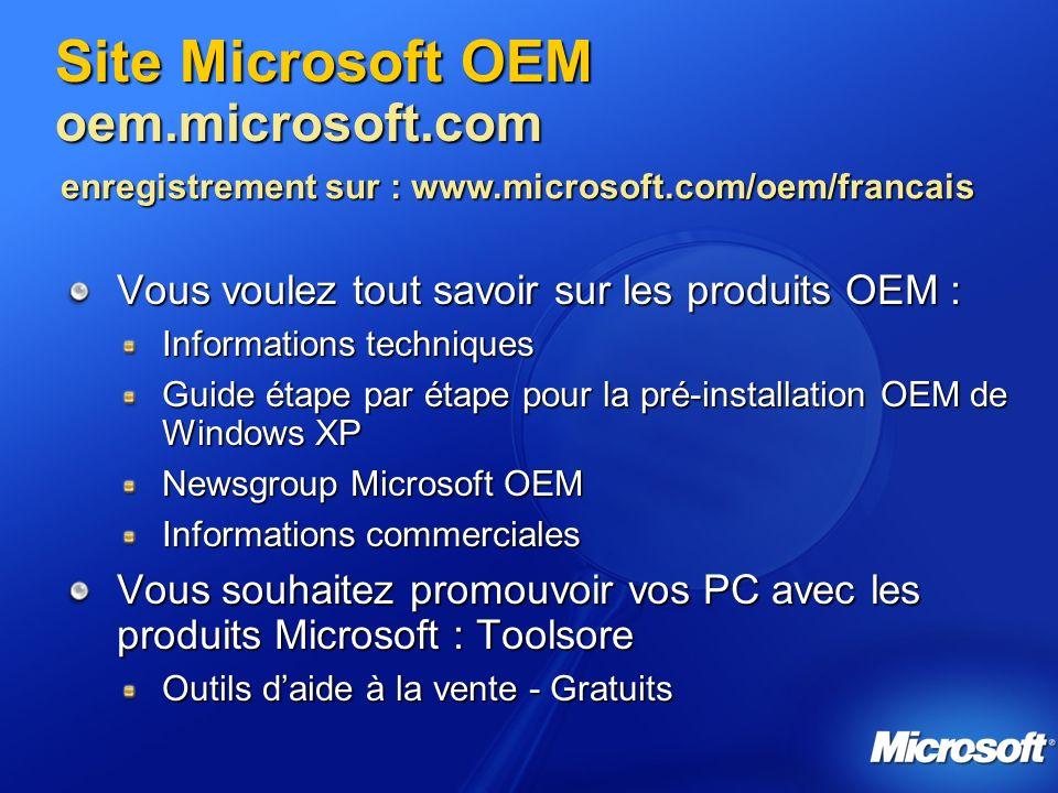 Site Microsoft OEM oem.microsoft.com
