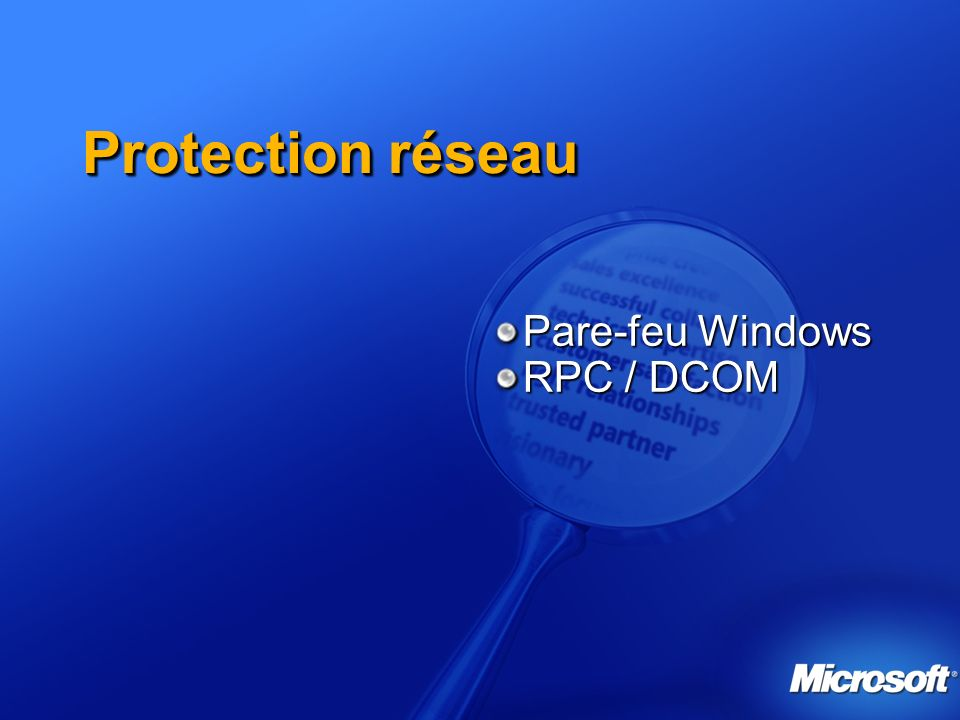 Pare-feu Windows RPC / DCOM