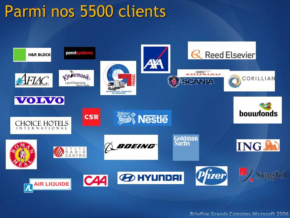 Parmi nos 5500 clients