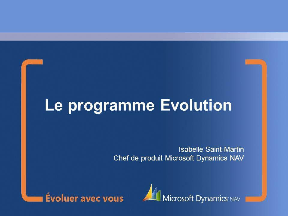 Le programme Evolution