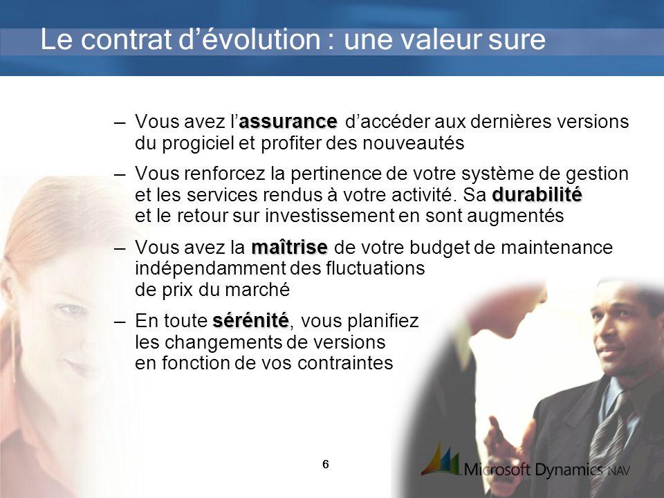 Le contrat d'évolution : une valeur sure