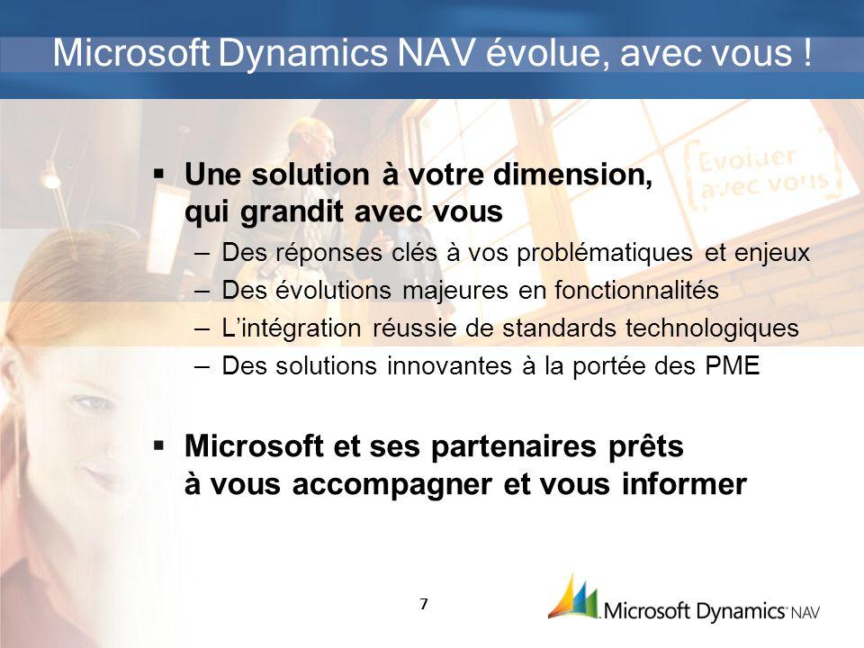 Microsoft Dynamics NAV évolue, avec vous !