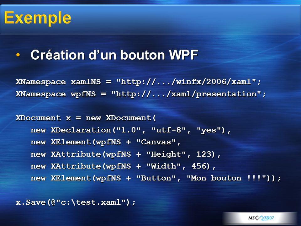 Exemple Création d'un bouton WPF