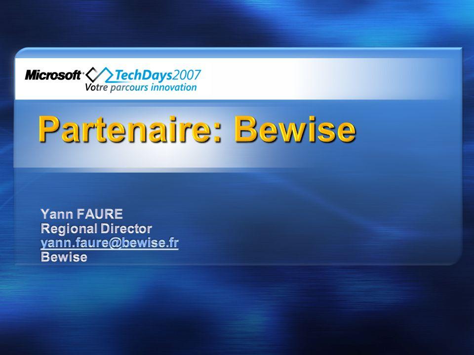 Yann FAURE Regional Director yann.faure@bewise.fr Bewise
