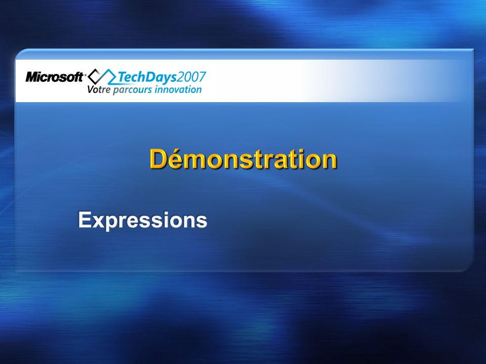 Démonstration Expressions