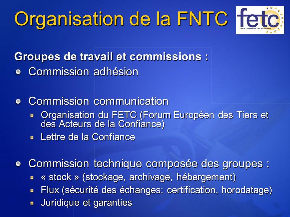 Organisation de la FNTC